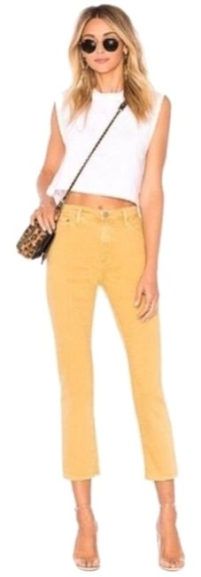 Item - Yellow Medium Wash Abbey Ankle Capri/Cropped Jeans Size 27 (4, S)