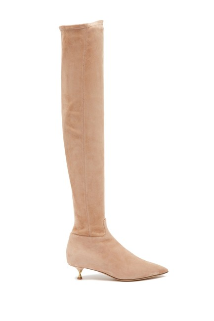Item - Skin Sorbet Over The Knee Suede Pointy Gold Kitten (Jb1) Boots/Booties Size EU 38 (Approx. US 8) Regular (M, B)