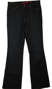 New York & Company Stretch Long Flare Leg Jeans-Dark Rinse
