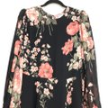 Reformation Black Luanne Floral Keyhole Mid-length Night Out Dress Size 2 (XS) Reformation Black Luanne Floral Keyhole Mid-length Night Out Dress Size 2 (XS) Image 7