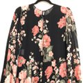 Reformation Black Luanne Floral Keyhole Mid-length Night Out Dress Size 2 (XS) Reformation Black Luanne Floral Keyhole Mid-length Night Out Dress Size 2 (XS) Image 9