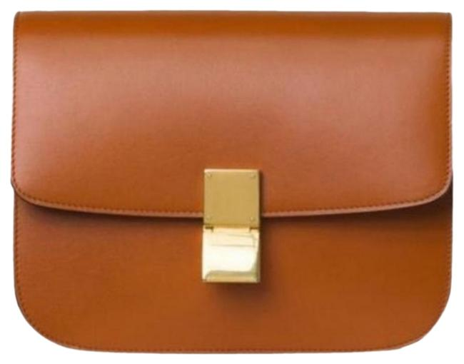Item - Classic Box Tawny Cow Mecla Red Lambskin Leather Shoulder Bag