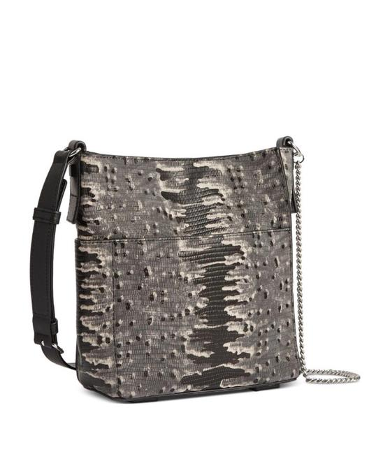 Item - Adelina Grey Multi Python Embossed Leather Cross Body Bag