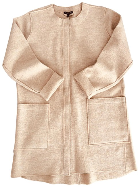 Eileen Fisher Camel Zip Wool Jacket Size 4 (S) Eileen Fisher Camel Zip Wool Jacket Size 4 (S) Image 1