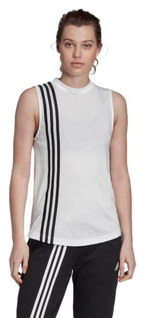 Item - White/Black Women's Must Have 3-stripes Activewear Top Size 2 (XS)