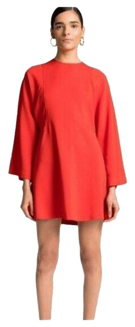 Item - Flame Red Audrina Structured Mini Short Casual Dress Size 8 (M)