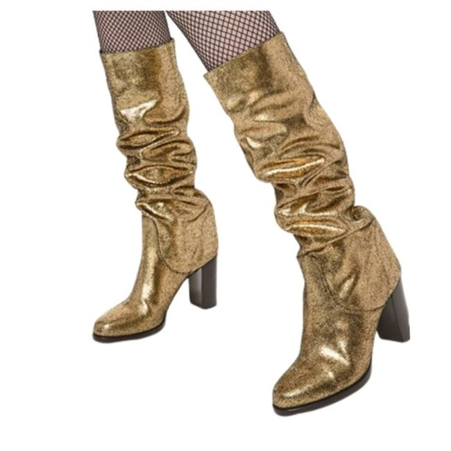 Item - Gold Lucienne Metallic Suede Boots/Booties Size US 9 Regular (M, B)