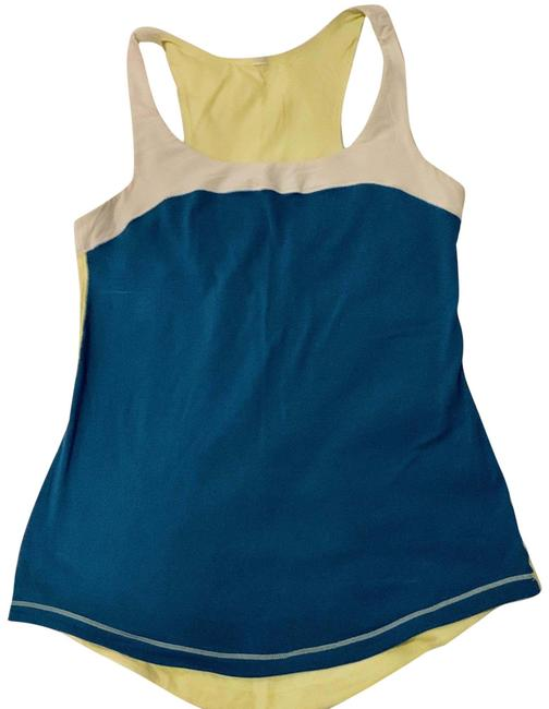 Item - Blue. Yellow White Colorblock Activewear Top Size 2 (XS)