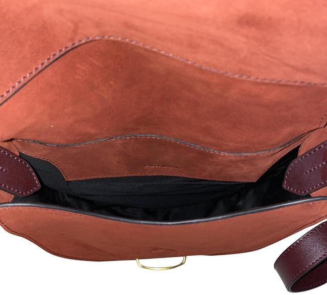 Item - Botsy Burgundy Suede Leather Cross Body Bag