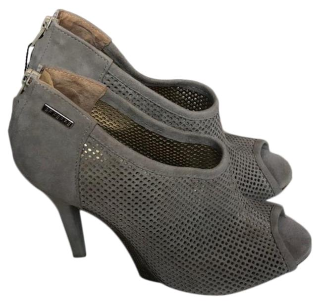 Item - Gray Cream Perforated Suede Boots/Booties Size EU 40 (Approx. US 10) Regular (M, B)