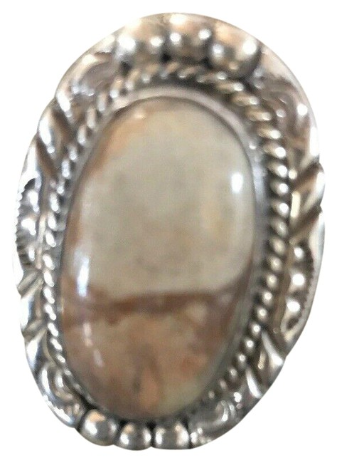 Item - Silver Grey Native American Sterling Turquoise Size 6 Ring