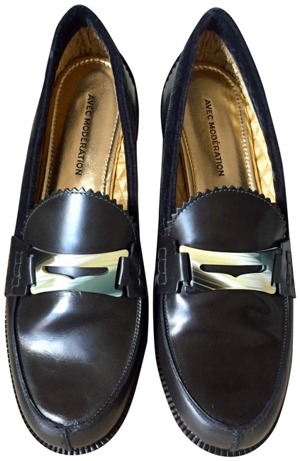 Item - Black Frida Anthracite Penny Loafers Flats Size EU 38.5 (Approx. US 8.5) Regular (M, B)