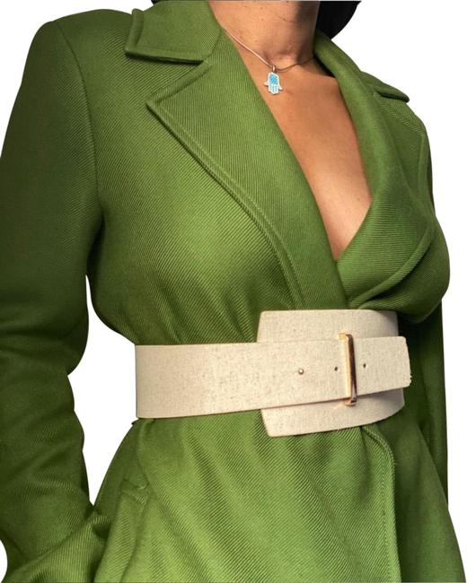 Item - Green Belted Coat Size 6 (S)