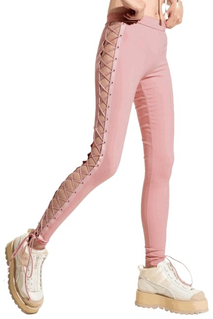 Item - Pink Boxing and Bomber Lace Up Leggings Size 2 (XS, 26)