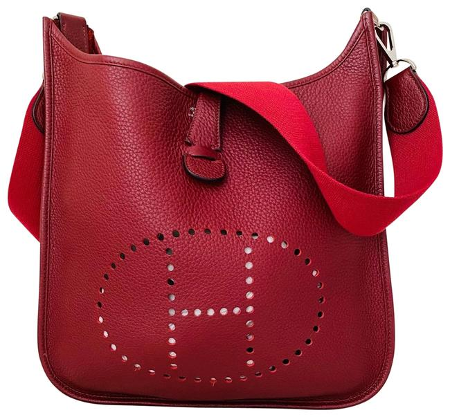 Item - Evelyne Pm Red Leather Cross Body Bag