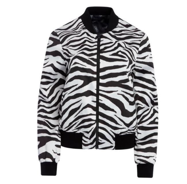 Item - Black / White And Lonnie Reversible Bomber Jacket Size 4 (S)