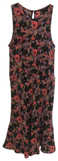 Item - Multi Colored Mid-length Short Casual Dress Size 0 (XS)