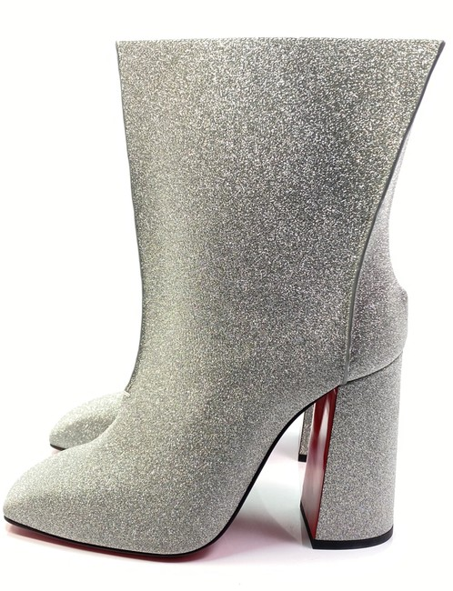 Christian Louboutin Silver Hilconissima 100 Calf Glitter Ankle Boots/Booties Size EU 40.5 (Approx. US 10.5) Regular (M, B) Christian Louboutin Silver Hilconissima 100 Calf Glitter Ankle Boots/Booties Size EU 40.5 (Approx. US 10.5) Regular (M, B) Image 1