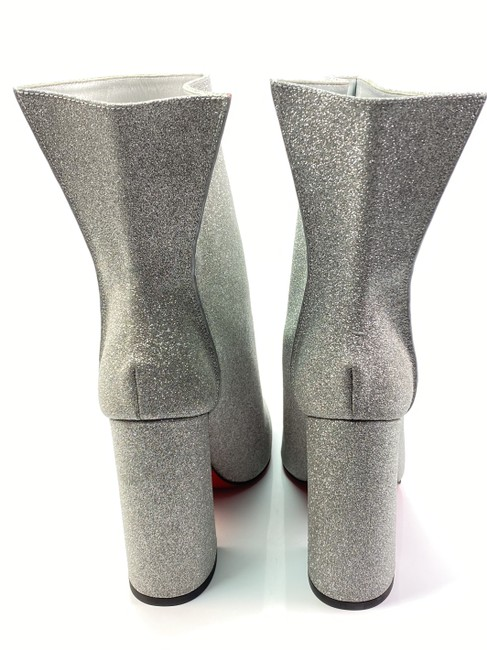 Christian Louboutin Silver Hilconissima 100 Calf Glitter Ankle Boots/Booties Size EU 40.5 (Approx. US 10.5) Regular (M, B) Christian Louboutin Silver Hilconissima 100 Calf Glitter Ankle Boots/Booties Size EU 40.5 (Approx. US 10.5) Regular (M, B) Image 5
