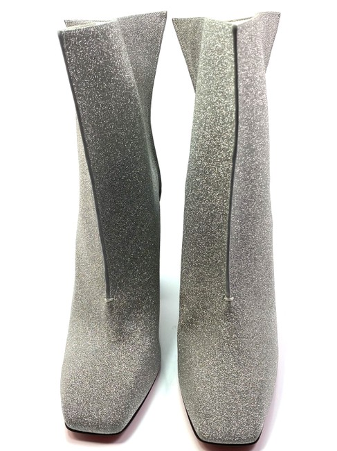 Christian Louboutin Silver Hilconissima 100 Calf Glitter Ankle Boots/Booties Size EU 40.5 (Approx. US 10.5) Regular (M, B) Christian Louboutin Silver Hilconissima 100 Calf Glitter Ankle Boots/Booties Size EU 40.5 (Approx. US 10.5) Regular (M, B) Image 7
