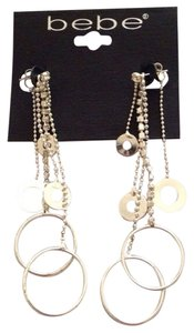 bebe Bebe Linear Disc Earrings