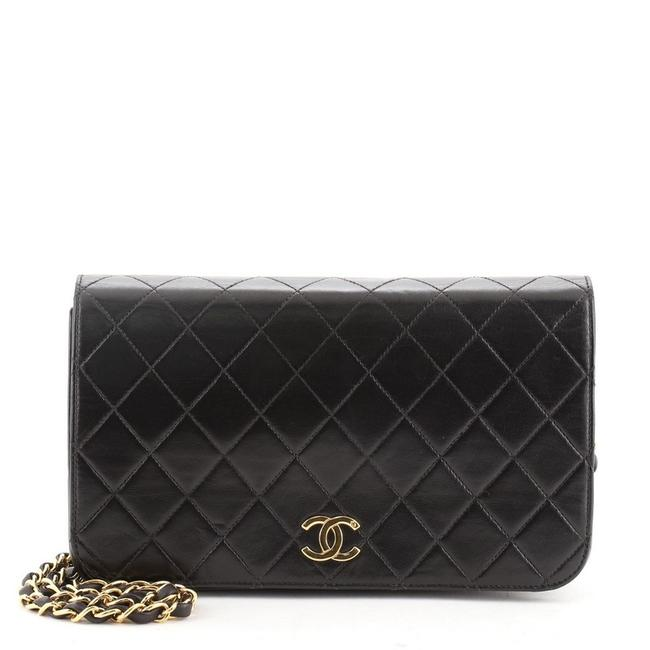 Chanel Classic Flap Vintage Full Quilted Lambskin Medium Black Leather Shoulder Bag Chanel Classic Flap Vintage Full Quilted Lambskin Medium Black Leather Shoulder Bag Image 1