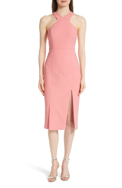 Item - Pink Melina Halter Mid-length Night Out Dress Size 0 (XS)