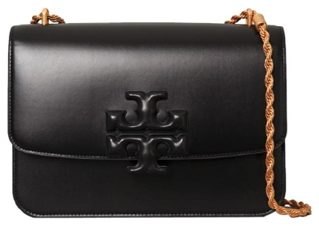 Tory Burch Eleanor Convertible Black Leather Shoulder Bag Tory Burch Eleanor Convertible Black Leather Shoulder Bag Image 1