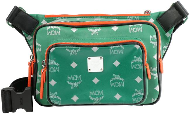 MCM Belt Resnick In Reflective Logo Green Nylon Cross Body Bag MCM Belt Resnick In Reflective Logo Green Nylon Cross Body Bag Image 1