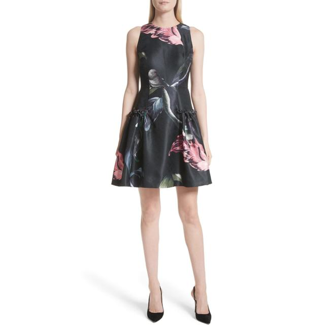 Preload https://img-static.tradesy.com/item/27969540/ted-baker-black-sarahe-floral-fit-and-short-night-out-dress-size-12-l-0-0-650-650.jpg