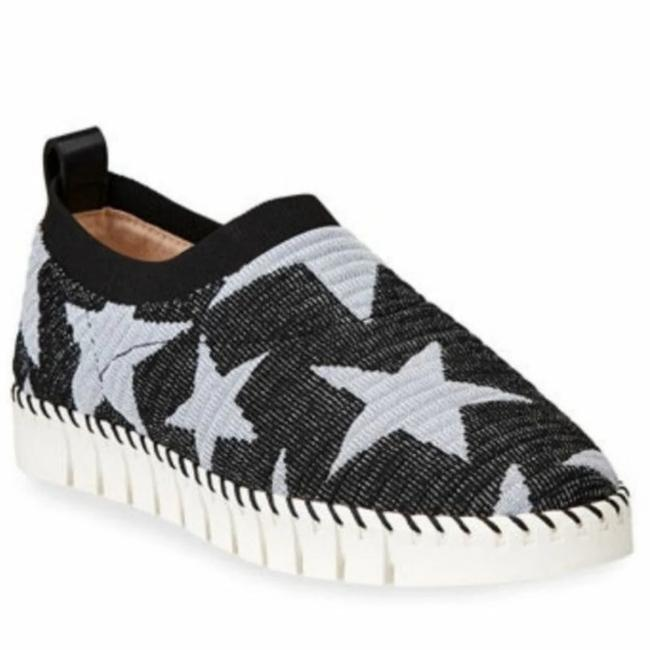 Neiman Marcus Black Play Stretch Star-print Knit Sneakers Size US 5.5 Regular (M, B) Neiman Marcus Black Play Stretch Star-print Knit Sneakers Size US 5.5 Regular (M, B) Image 1