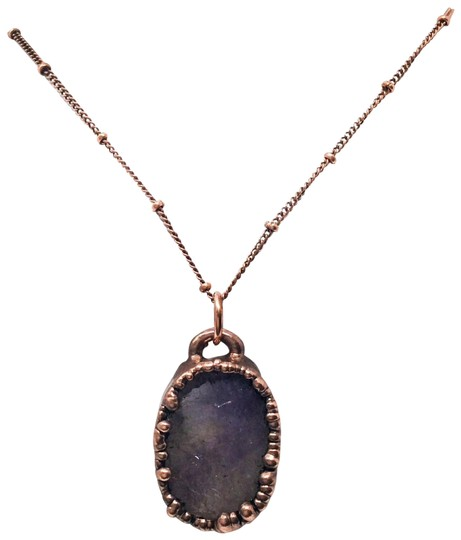 Preload https://img-static.tradesy.com/item/27969550/purple-0015-boho-electroformed-amethyst-necklace-0-1-540-540.jpg