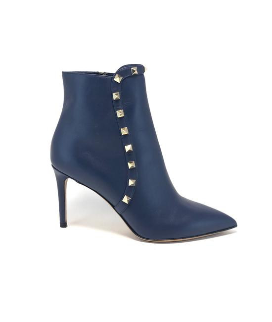 Item - Navy Rockstud Pointed Toe Boots/Booties Size EU 36.5 (Approx. US 6.5) Regular (M, B)