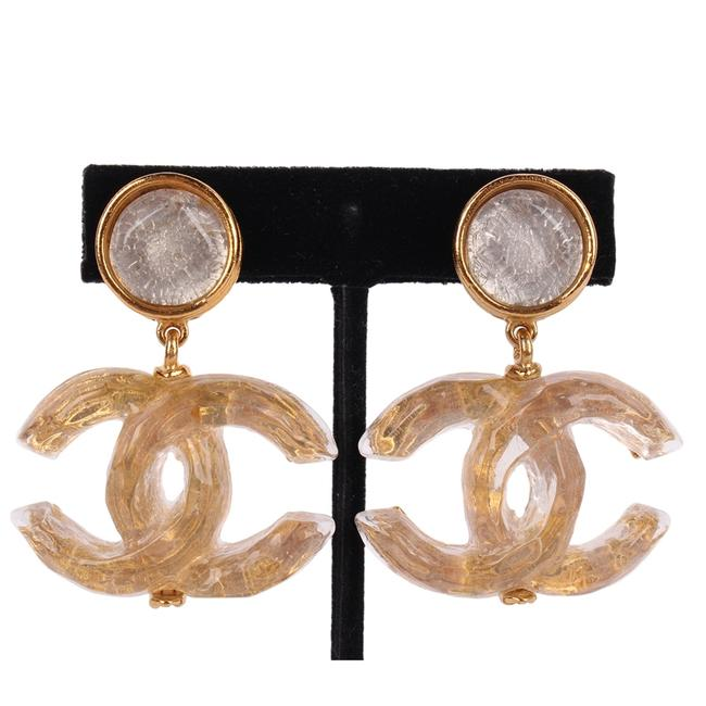 Chanel Gold 99p Cc Vintage Resin 8793 Earrings Chanel Gold 99p Cc Vintage Resin 8793 Earrings Image 1