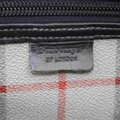Burberry Duffle Ultra Rare Nova Check Boston with Strap 860655 Gray Coated Canvas Weekend/Travel Bag Burberry Duffle Ultra Rare Nova Check Boston with Strap 860655 Gray Coated Canvas Weekend/Travel Bag Image 2