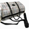 Burberry Duffle Ultra Rare Nova Check Boston with Strap 860655 Gray Coated Canvas Weekend/Travel Bag Burberry Duffle Ultra Rare Nova Check Boston with Strap 860655 Gray Coated Canvas Weekend/Travel Bag Image 4