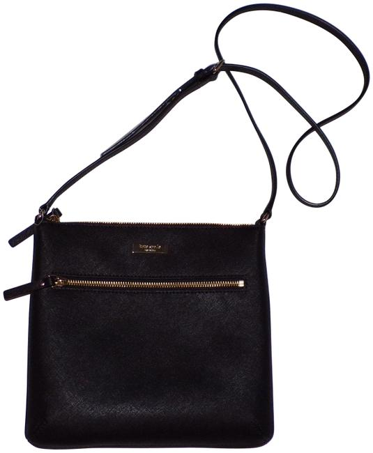 Kate Spade Laurel Way Rima Black Leather Cross Body Bag Kate Spade Laurel Way Rima Black Leather Cross Body Bag Image 1
