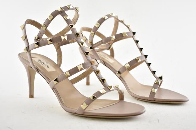 Valentino Nude Rockstud Undercover Leather Chain Red Rose