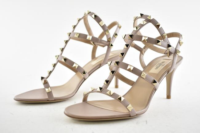 Valentino Nude Rockstud 70 Poudre Stud Caged Ankle Strap