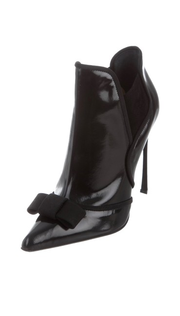 Item - Black Bow Embellished Pierrot Ankle Boots/Booties Size EU 38 (Approx. US 8) Regular (M, B)