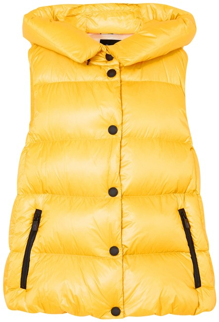 Item - Yellow Resy Hooded Quilted Shell Down Vest Size 4 (S)