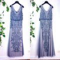 Adrianna Papell Silver Grey Evening Mermaid Gown Long Formal Dress Size 4 (S) Adrianna Papell Silver Grey Evening Mermaid Gown Long Formal Dress Size 4 (S) Image 11