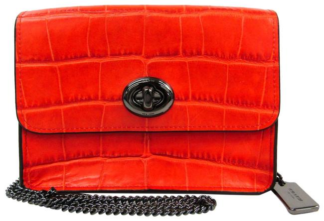 Item - Crossbody Bowery 57717 Women's Orange Leather Shoulder Bag