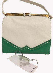 Marni Satchel in White / Green