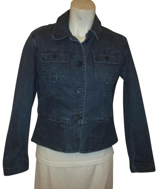 Item - Blue Stretch Fitted Jean Jacket Size Petite 2 (XS)