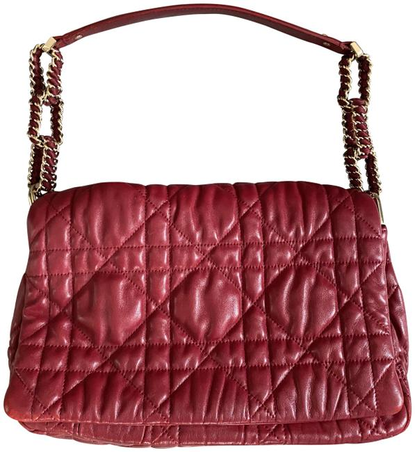 Item - Burgundy Lambskin Leather Shoulder Bag