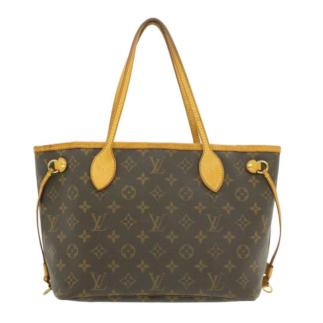 Item - Neverfull Tote M40155 Brown Monogram Pvc Shoulder Bag