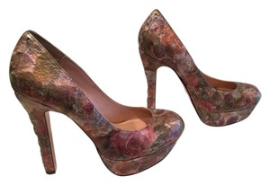 Betsey Johnson Paintimg Multi color Platforms