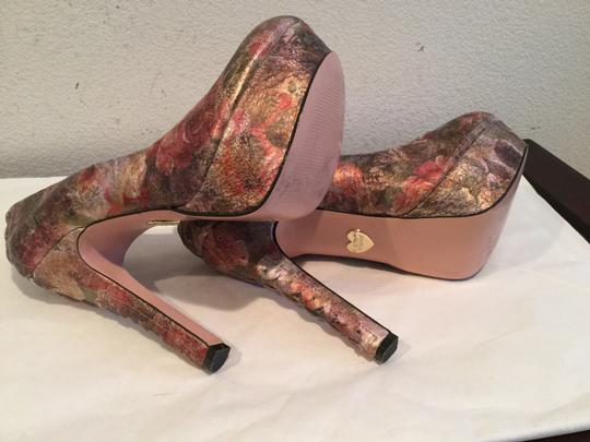 Betsey Johnson Colorful Paintimg Multi color Platforms