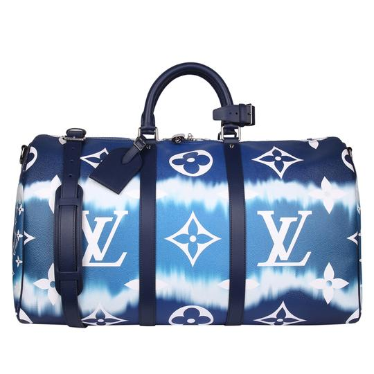 Preload https://img-static.tradesy.com/item/27972060/louis-vuitton-keepall-escale-bandouliere-50-8773-blue-coated-canvas-weekendtravel-bag-0-0-540-540.jpg